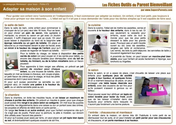 FO MON 3 - Adapter sa maison à son enfant
