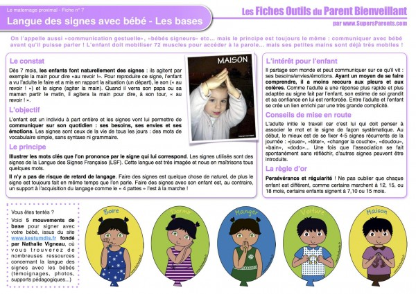 FO MP 7 - Langue des signes avec bébé - Les bases