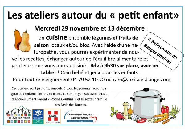 Atelier cuisine Petite Enfance