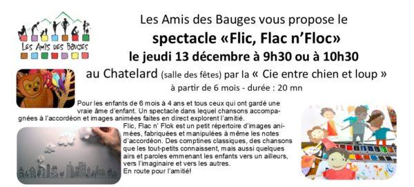 Spectacle Petite Enfance le 13/12/18 salle des fêtes du Châtelard