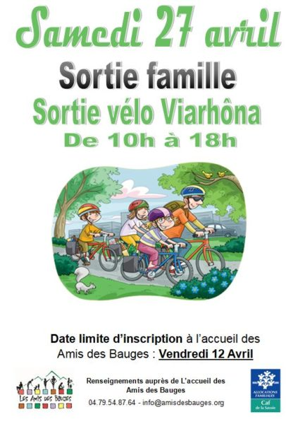 Sortie vélo en famille le samedi 27 avril